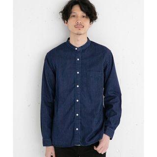 グローバルワーク(GLOBAL WORK)のデニムバンドカラーシャツ グローバルワーク ブルー系(シャツ)
