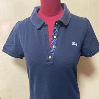 バーバリーブルーレーベル(BURBERRY BLUE LABEL)の【夏物衣料最終価格】バーバリーブルーレーベルポロシャツ 紺色(ポロシャツ)