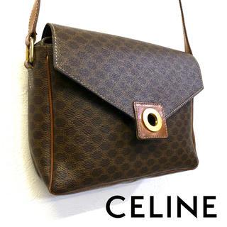 celine - 美品 オールド CELINE レザー総柄ショルダーポーチ 正規店購入