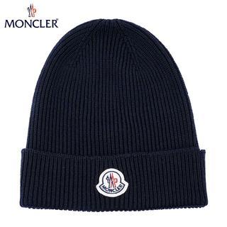 モンクレール(MONCLER)の44 MONCLER 男女兼用 ネイビー ニットキャップ ニット帽(ニット帽/ビーニー)