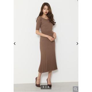 リエンダ(rienda)のrienda Stripe Crochet Knit OP(ロングワンピース/マキシワンピース)