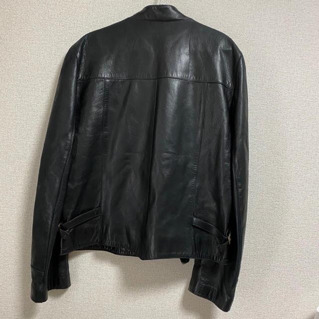 agnes b.(アニエスベー)のagnes b. homme アニエスベーオム ナポレオン  レザー ジャケット メンズのジャケット/アウター(ライダースジャケット)の商品写真