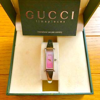Gucci - 【大特価!!】GUCCI グッチ 1500L バングル腕時計 ピンクシェル🎀