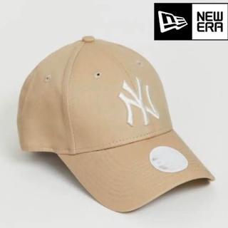 NEW ERA - ニューエラ キャップ NY ヤンキース ベージュ レディース 海外限定