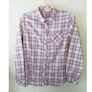 ★earth☆長袖チェックシャツ☆M★