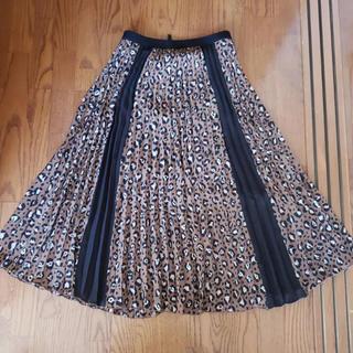 ZARA - ストラディバリウス レオパード  ロングスカート  プリーツ スカート  美品