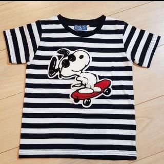 ライトオン(Right-on)のスヌーピー ボーダー Tシャツ 120(Tシャツ/カットソー)