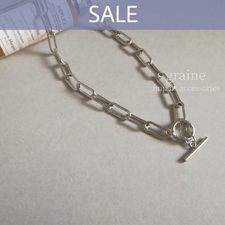Ameri VINTAGE - 【SALE】stainless chain necklace ① 🍒ラスト1点