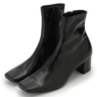 スナイデル(snidel)のSNIDEL スクエアショートブーツ Sサイズ(ブーツ)