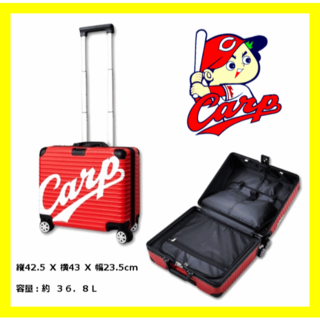 ヒロシマトウヨウカープ(広島東洋カープ)の広島カープ ビッグロゴ キャリーバッグ スーツケース Carp 限定 プロ野球(旅行用品)