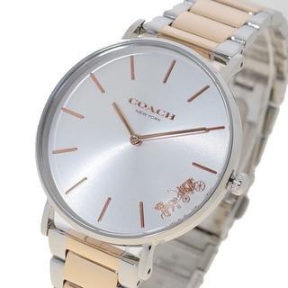 コーチ(COACH)のコーチ 腕時計 ペリー レディース 14503346 シルバー ゴールド(腕時計)