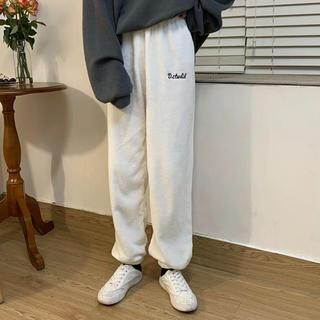 ディーホリック(dholic)の韓国ファッション ふわふわ カジュアルパンツ ワイドパンツ ルームウェア 通販(カジュアルパンツ)