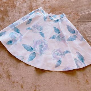 フレイアイディー(FRAY I.D)のフレイアイディー 花柄フレアスカート(ミニスカート)