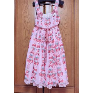 Angelic Pretty - strawberry dollジャンパースカート
