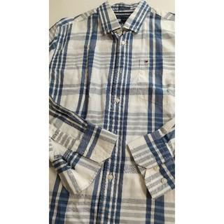 トミーヒルフィガー(TOMMY HILFIGER)のTOMMYFILFIGER ブルーチェックシャツ(シャツ)