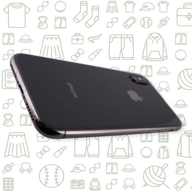 iPhone(アイフォーン)の【C】iPhoneX/256/ソフトバンク スマホ/家電/カメラのスマートフォン/携帯電話(スマートフォン本体)の商品写真