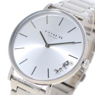 コーチ(COACH)のコーチ腕時計 ペリー レディース 14503344 ホワイト シルバー(腕時計)