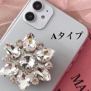 ロイヤルパーティー(ROYAL PARTY)の美人百花 ダイヤモンド スマホリング キラキラ ビジュー(iPhoneケース)