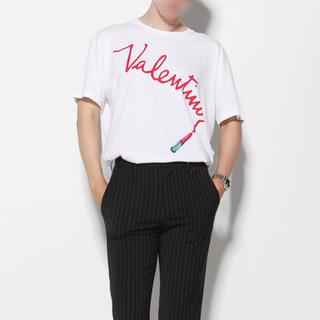 DUDE9 リップスティックTシャツ XL ホワイト