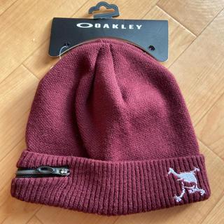 オークリー(Oakley)の【未使用品】オークリー Oakley ニット帽 エンジ(ニット帽/ビーニー)