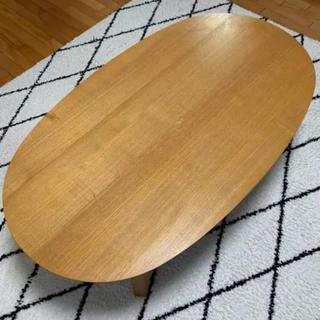 ムジルシリョウヒン(MUJI (無印良品))の無印こたつ 楕円こたつ テーブル カバーセット(こたつ)