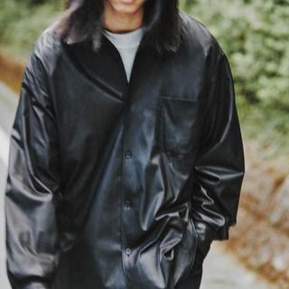 COMOLI - 新品 20aw  サイズ 1 COMOLI レザー コモリ シャツ ジャケット