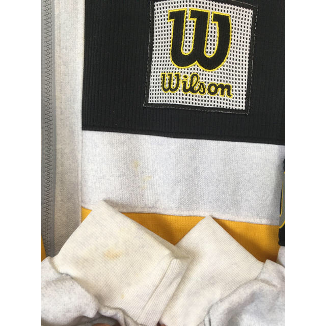 wilson(ウィルソン)のウィルソン WILSON ジャージ メンズ L ジップアップ ロゴ刺繍  メンズのトップス(ジャージ)の商品写真