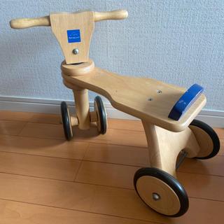 ボーネルンド(BorneLund)のボーネルンド 木製バイク 四輪車 室内用 used (三輪車)