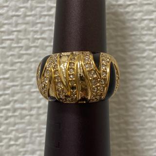 スワロフスキー(SWAROVSKI)の本物 指輪 スワロフスキー リング ゴールド メッキ 14号 ラインストーン(リング(指輪))