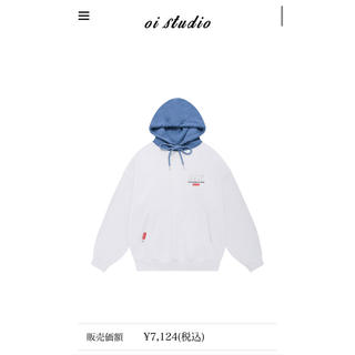 5252 by OiOi COLOR BLOCK LABEL HOODIE (パーカー)