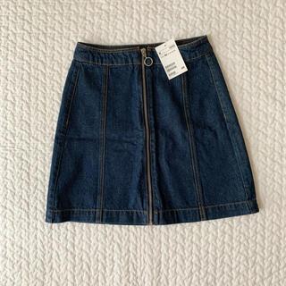 エイチアンドエム(H&M)のリングジップミニスカート(ミニスカート)