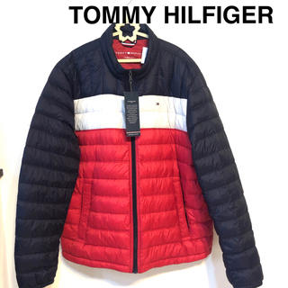 TOMMY HILFIGER - トミー ヒルフィガー 新品 ロゴ パーカー  ダウンジャケット ダウンコート 紺