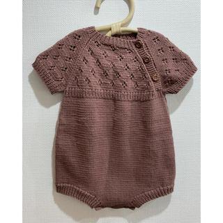 Caramel baby&child  - 未使用 PENOORA'S ニットロンパース(12-18m)
