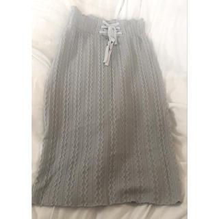 ダブルクローゼット(w closet)のニット柄 スカート(ロングスカート)