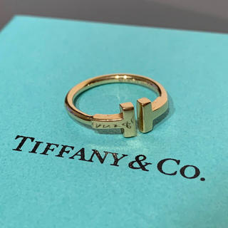 Tiffany & Co. - ティファニー T ワイヤー K18 イエロー ゴールド リング 指輪 AU750