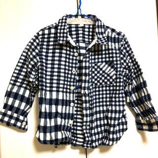 ムジルシリョウヒン(MUJI (無印良品))の無印良品 チェックシャツ長袖 100 上着(ブラウス)