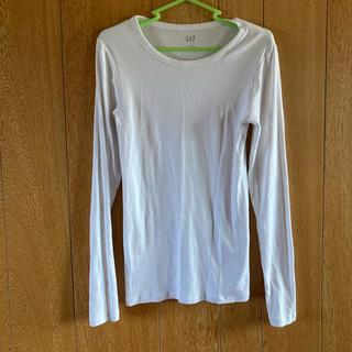 ギャップ(GAP)の白ロングTシャツ(Tシャツ(長袖/七分))