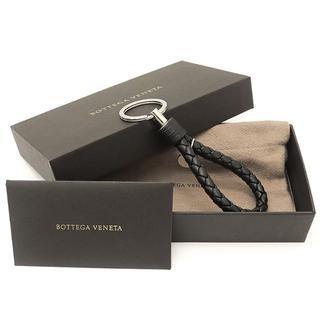 ボッテガヴェネタ(Bottega Veneta)のBottega Veneta キーリング イントレチャート レザー 黒 3059(キーホルダー)
