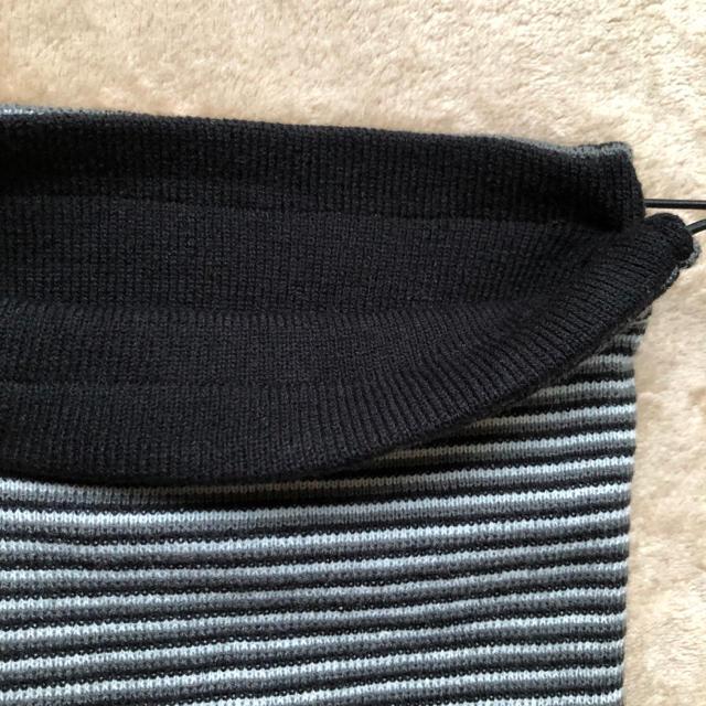 ネックウォーマー 大人用 ボーダー柄 未使用 メンズのファッション小物(ネックウォーマー)の商品写真