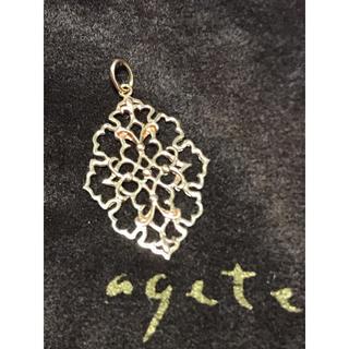 agete - agete アガット K10 ジャスミン YG ネックレスチャーム