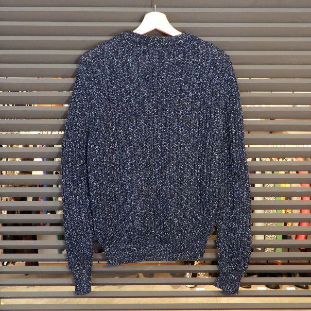Dior(ディオール)の新品同様 ディオール 長袖 ニット カギ編み ネイビー 紺 XS クルーネック メンズのトップス(ニット/セーター)の商品写真