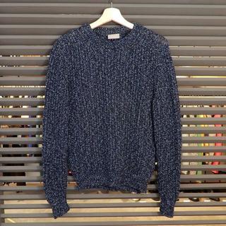 Dior - 新品同様 ディオール 長袖 ニット カギ編み ネイビー 紺 XS クルーネック