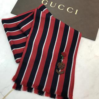 グッチ(Gucci)の☆未使用品☆GUCCI ストール ストライプ シルク ウール(ストール)