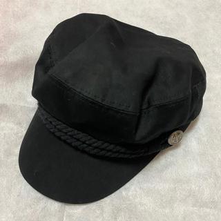 イング(INGNI)のINGNI イング キャスケット 帽子 ブラック 2WAY(キャスケット)