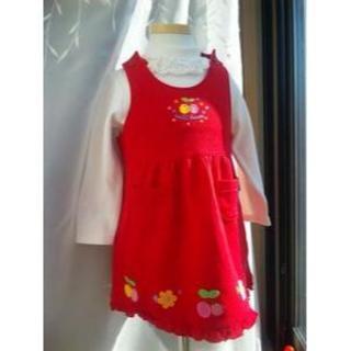 ミキハウス(mikihouse)のミキハウス90アップリケがかわいいジャンパースカート☆ 新品タグ付定価8300円(スカート)