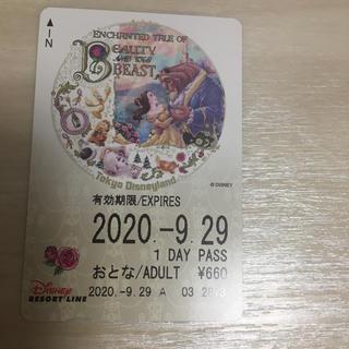 ディズニー(Disney)のディズニーリゾートライン☆美女と野獣☆使用済みチケット(キャラクターグッズ)