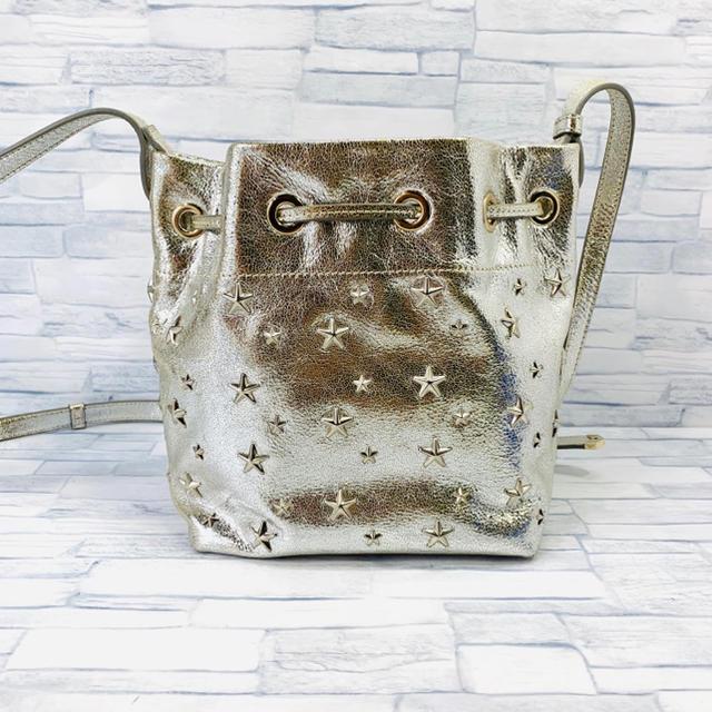JIMMY CHOO(ジミーチュウ)の超美品 ジミーチュウ  ドローストリングバッグ ショルダーバッグ  JUNO レディースのバッグ(ショルダーバッグ)の商品写真