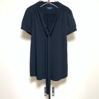 バーバリー(BURBERRY)の美品 バーバリーロンドン シフォンブラウス 黒(シャツ/ブラウス(半袖/袖なし))