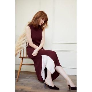 snidel - Herlipto high neck knit long dressニットドレス