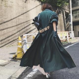 Ameri VINTAGE - BACK PLEATS LAYERED COAT グリーン アメリ